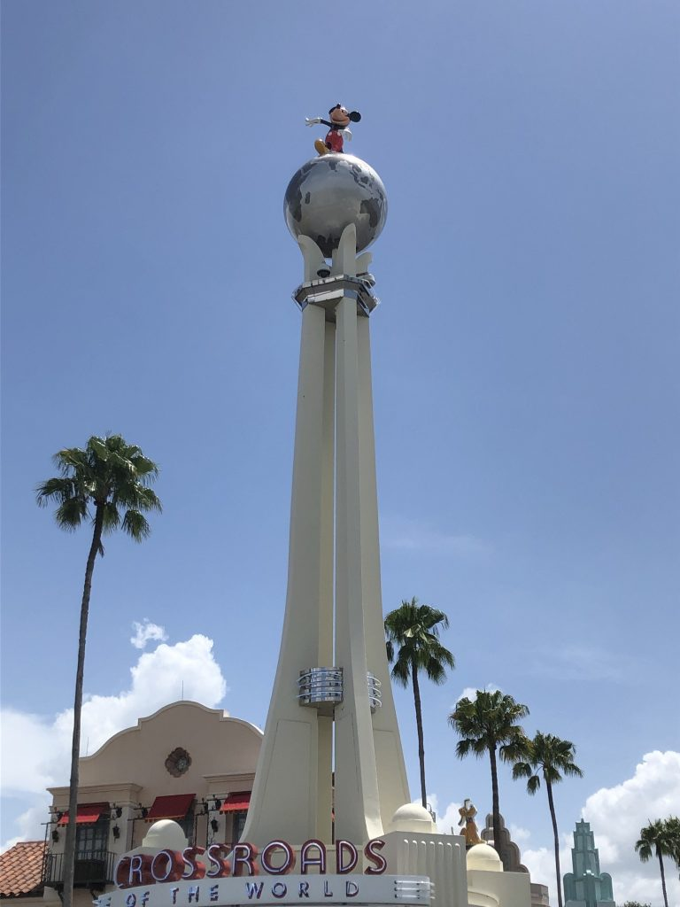Crossroads of the World Tower Hollywood Studios