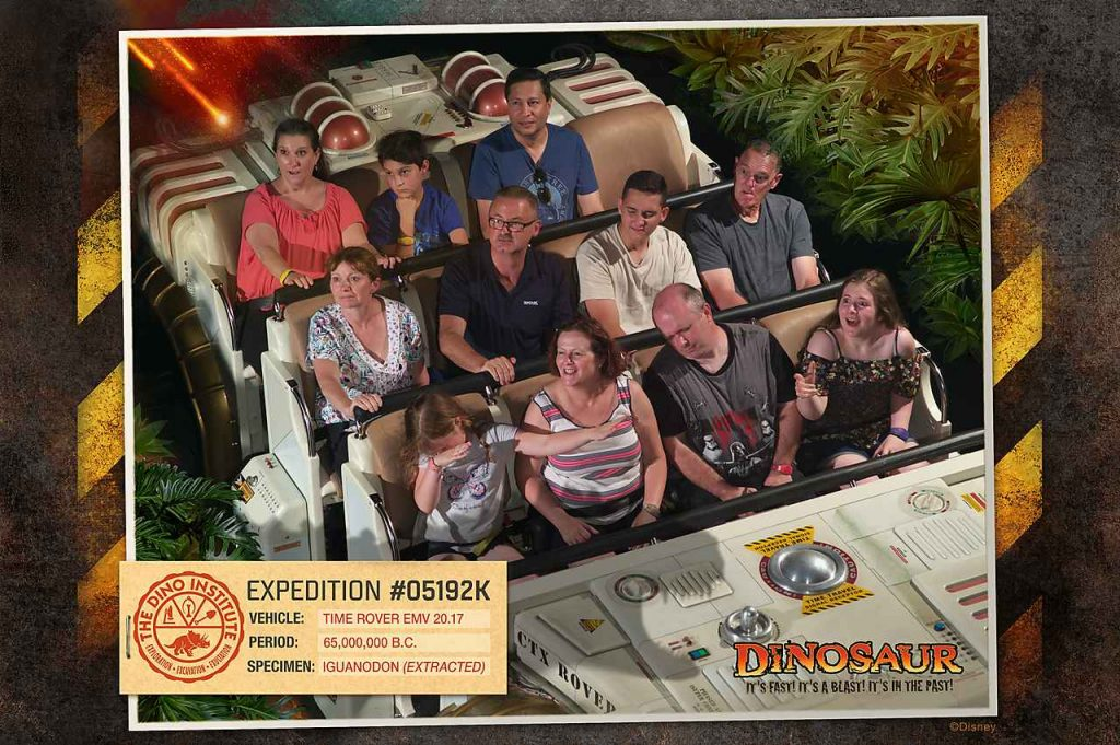 Falling asleep on Dinosaur Animal Kingdom