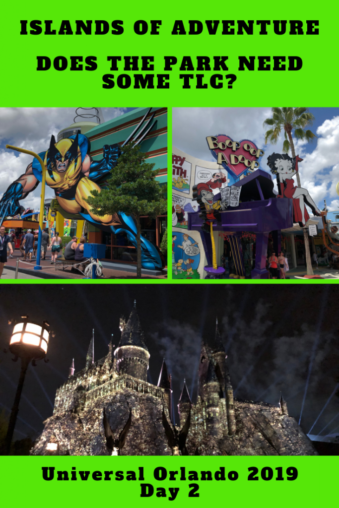 Our 2nd day at Universal Orlando Resort and today we visited Islands of Adventure. We discuss the changes in the park and how some areas need some TLC