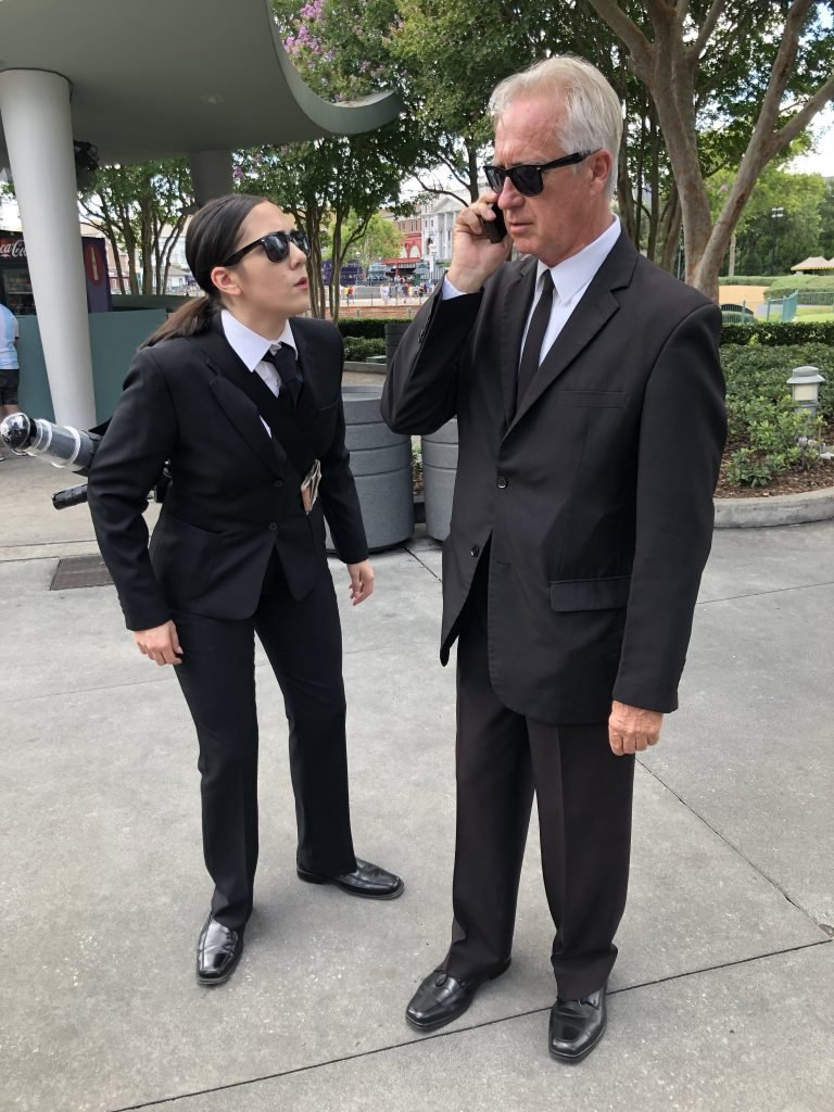 Men in Black patrolling Universal Orlando