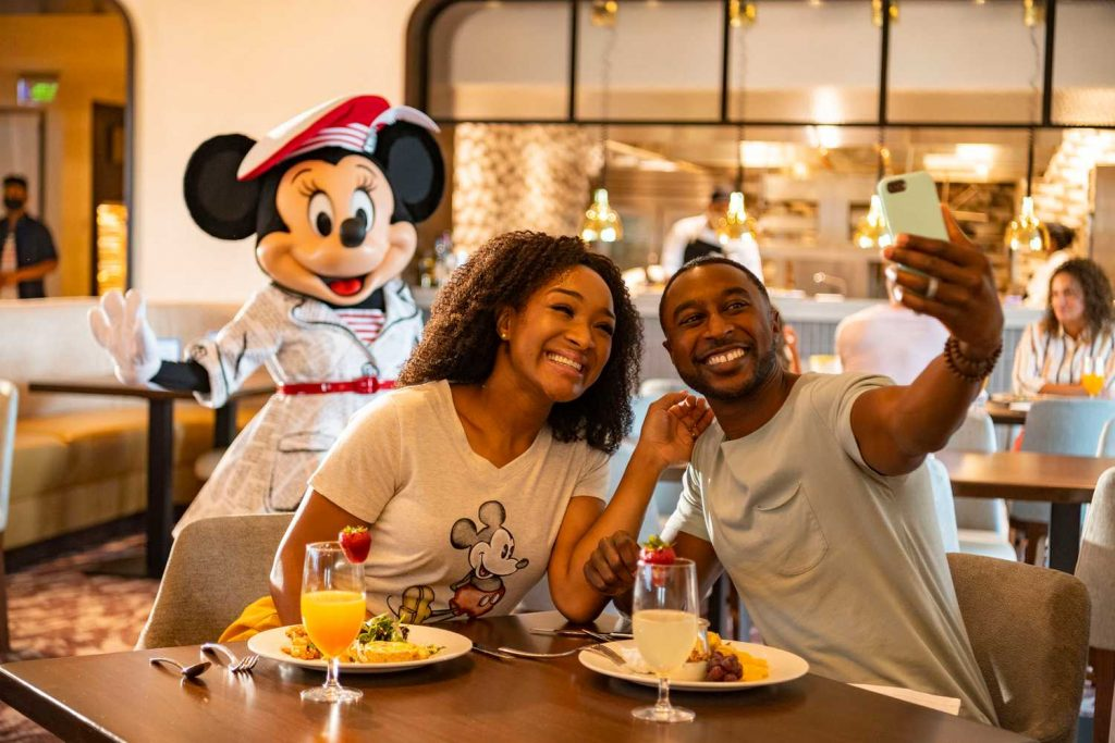 Modified Character meals at Walt Disney World 2021 Topolino's Terrace
