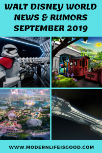 We are back with our Walt Disney World News & Rumors September 2019. This month's update includes changes at Epcot, StarWars, Disney Genie, and lots more.