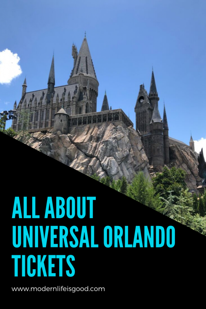 All About Universal Orlando Tickets