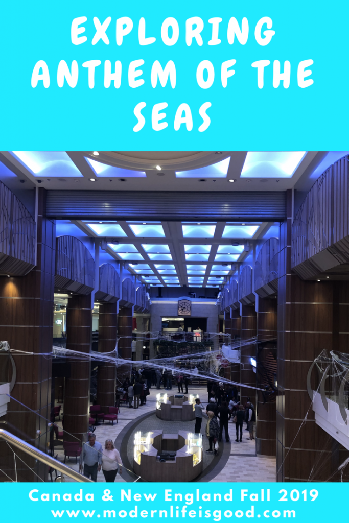 After two hectic days of traveling, today was an opportunity for resting and relaxing on Anthem of the Seas as we spend a day at sea.