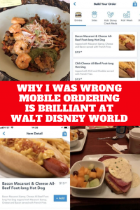 I was never convinced about the value of Mobile Ordering at Walt Disney World when it first came out. I couldn't see how it really saved you any time, I was wrong.