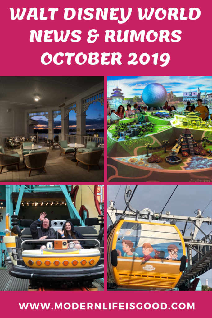 Time for another dose of the latest Walt Disney World News & Rumors. The big news in our Walt Disney World News & Rumors October 2019 is the opening, and then the closing, of the Disney Skyliner.