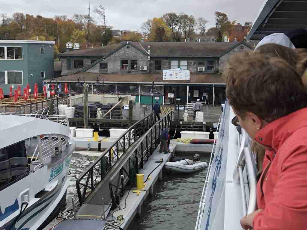 Arriving at Bar Harbor Maine