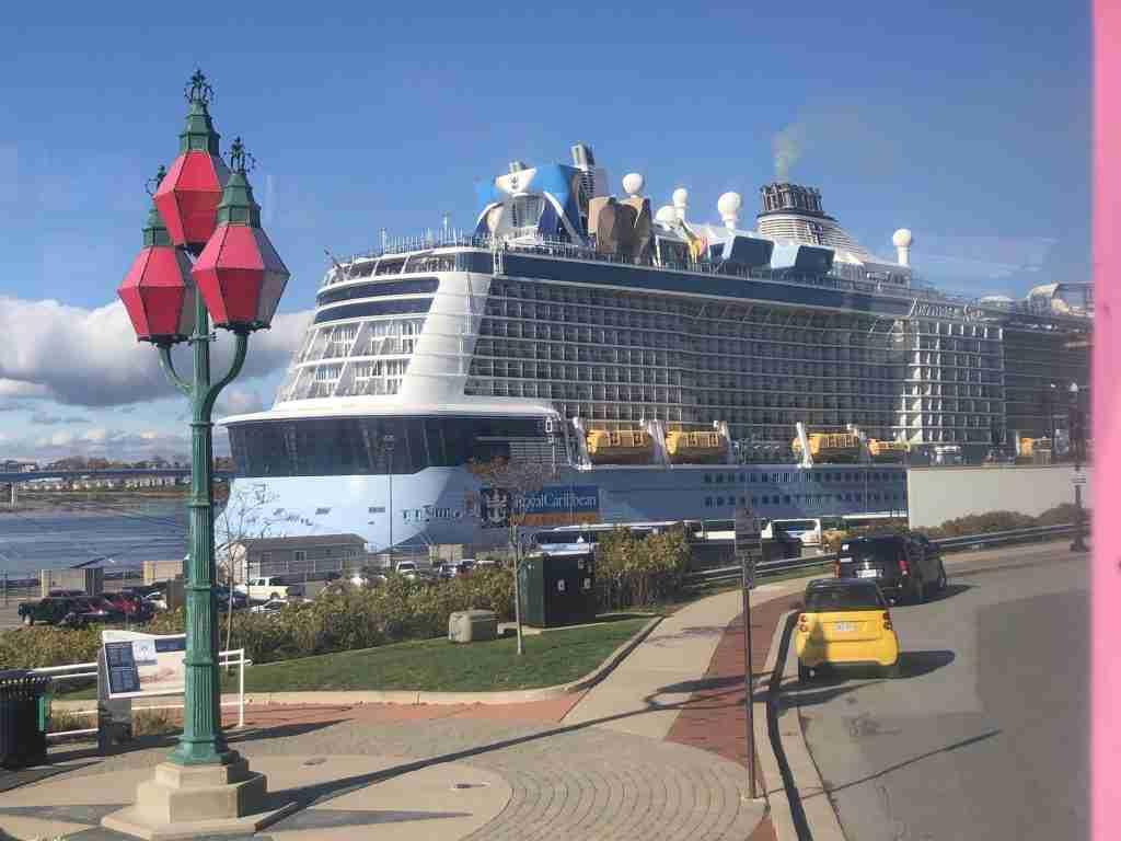 Anthem of the Seas docked at Saint John