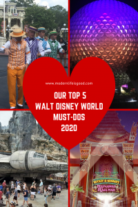 As we approach another year at Walt Disney World, it time to have a look at our Top 5 Walt Disney World Must-Dos for 2020. We think 2020 is going to be one of the best years ever to Walt Disney World, and this is what we can't wait to do when we arrive.