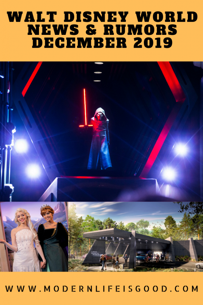 Our Walt Disney World News & Rumors December 2019 includes the latest on Star Wars: Galactic Starcruiser, 2020 Epcot International Festival of the Arts, a new look for Anna and Elsa, and the opening of Star Wars: Rise of the Resistance.