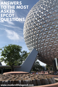 We have batched together a selection of Epcot Useful Information which you will not find elsewhere on Modern Life is Good.