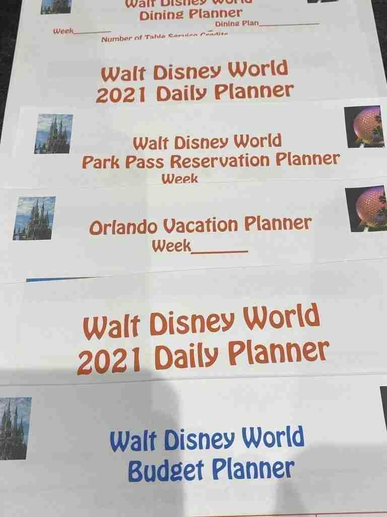 Free 2021 Walt Disney World Planners