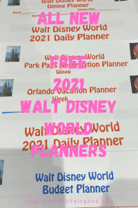 The planning process has changed considerably for 2021 Disney Vacations but remains an essential process. Eventually, you will want to start putting your plans down in writing. Our Free 2021 Walt Disney World Planners are a great resource that can help create a perfect Walt Disney World Vacation Plan.