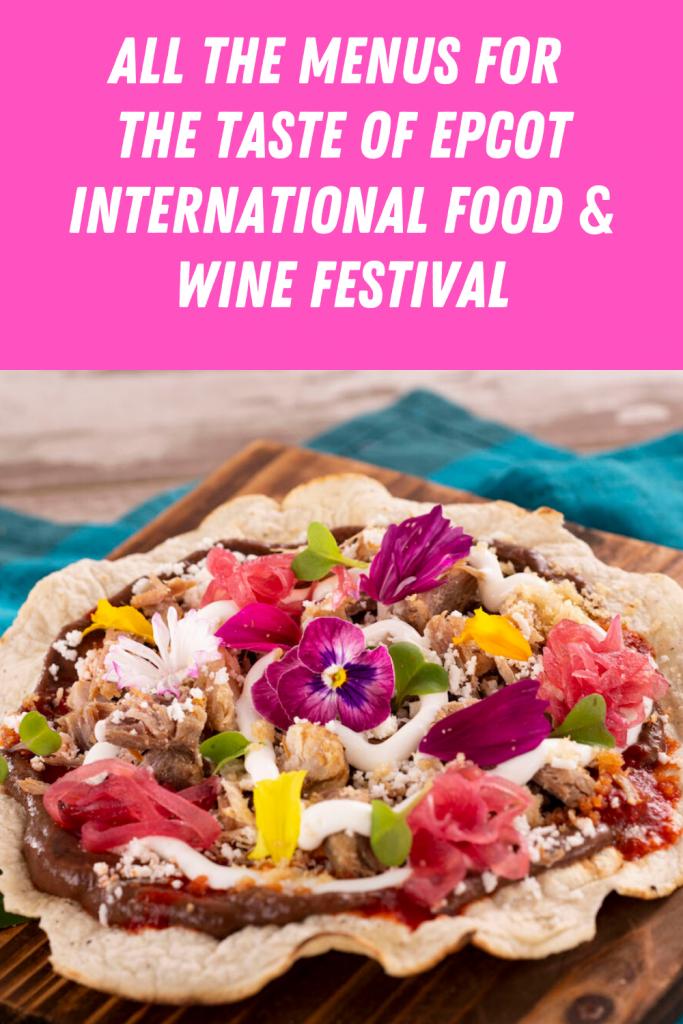 Global Marketplaces Menus at the Taste of Epcot International Food & Wine Festival