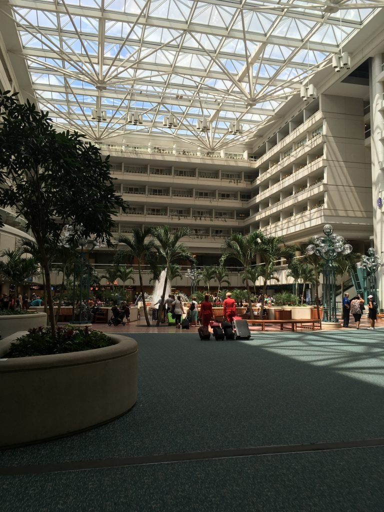 There has been big drops in traffic at Orlando International