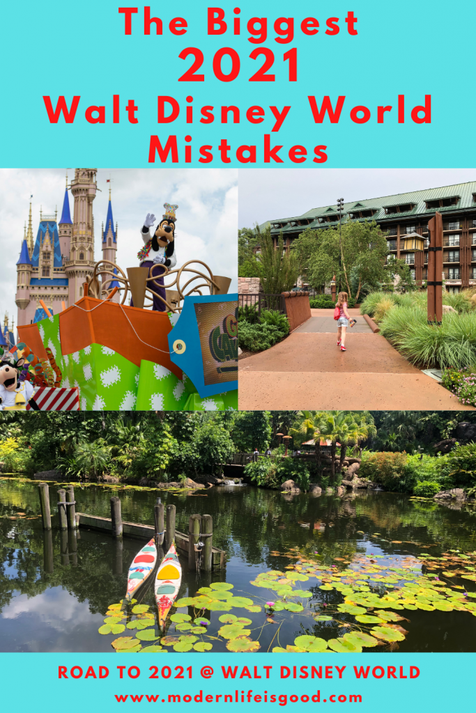 Your previous Walt Disney World strategies are worthless! Since Walt Disney World reopened, your strategy to have a great time has completely changed. Our previous blog post on 20 Walt Disney World Mistakes you Must Avoid has historically been one of our most visited posts on Modern Life is Good. However, many of these tips are now out of date. These are our all-new Walt Disney World Mistakes to Avoid during the reopening period of Walt Disney World. Follow these tips, and you will have a great time at Walt Disney World in 2021.
