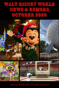 Our Walt Disney World News and Rumors October 2020 will bring you up to date with all the latest information. This month's update includes Christmas 2020, Galactic Starcruiser, Epcot Festivals, and a general resort update.