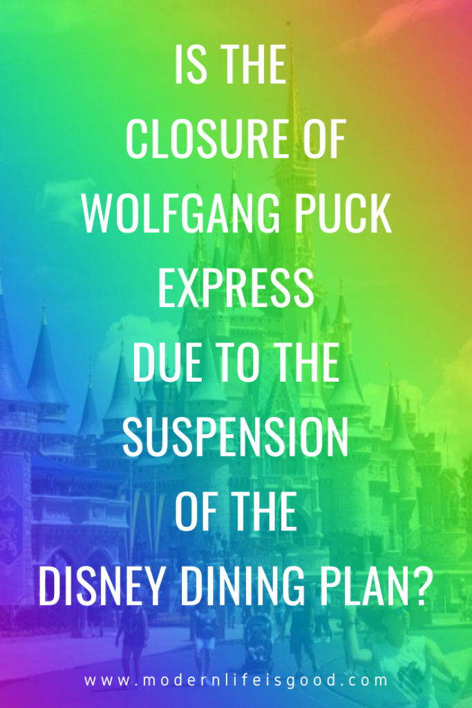 Wolfgang Puck Express at Disney Springs Marketplace has closed. The venue has had signs and menus taken down for several days, but now the closure has been confirmed as permanent. We can't help but wonder whether the closure of Wolfgang Puck Express due to the suspension of the Disney Dining Plan.