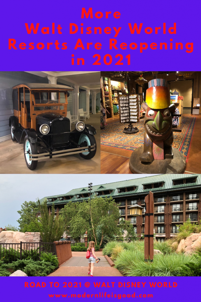 """As we continue our """"Road to 2021 at Walt Disney World"""" series, we are pleased to announce some exciting news. More Walt Disney World Resorts are reopening in 2021."""