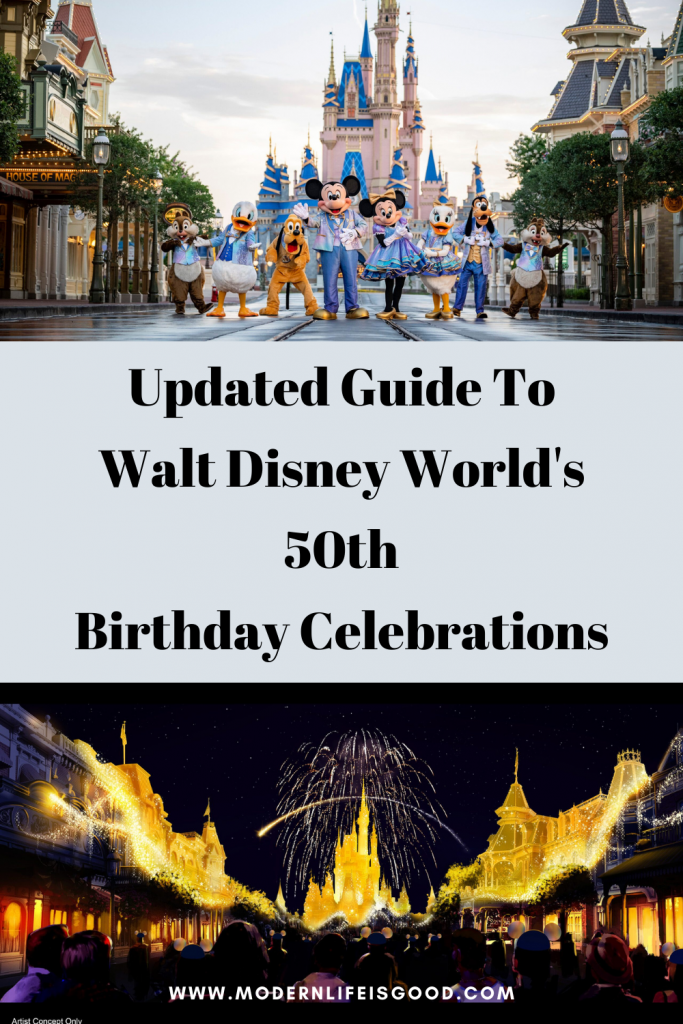 """Disney is calling the 50th birthday celebrations """"The World's Most Magical Celebration."""" We updated this article on Walt Disney World's 50th birthday celebrations on 26 June 2021, with all the latest information including 2 new nighttime shows."""