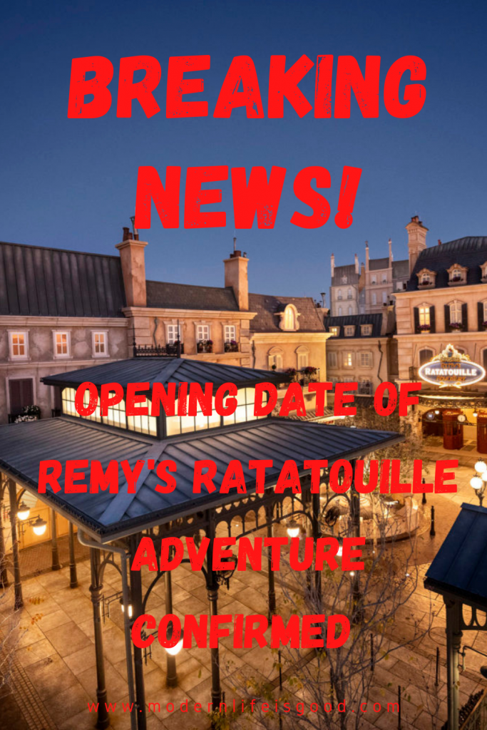 Remy's Ratatouille Adventure was planned to open in time for summer 2020. Many of us hoped summer 2021 might be the delayed opening. However, the attraction has now been confirmed to open on October 1.