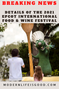 A couple of weeks ago, I got out my crystal ball and considered the possibility that the 2021 EPCOT International Food & Wine Festival might open on July 15th. Mrs. Modernlifeisgood wasn't convinced by this prediction but grabbed a Disney Park Pass just in case.