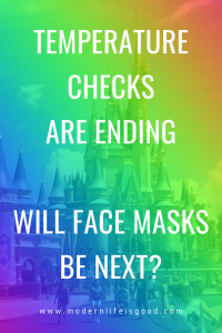 Walt Disney World is to end Temperature Checks on May 16th. In addition, there are already reports that checks have ended at Disney Hotel Restaurants. Universal Orlando & SeaWorld have also followed, and temperature checks at both resorts have already stopped. Also, Universal & SeaWorld have reduced distancing requirements to 3 feet, but there are no changes currently at Disney Parks.