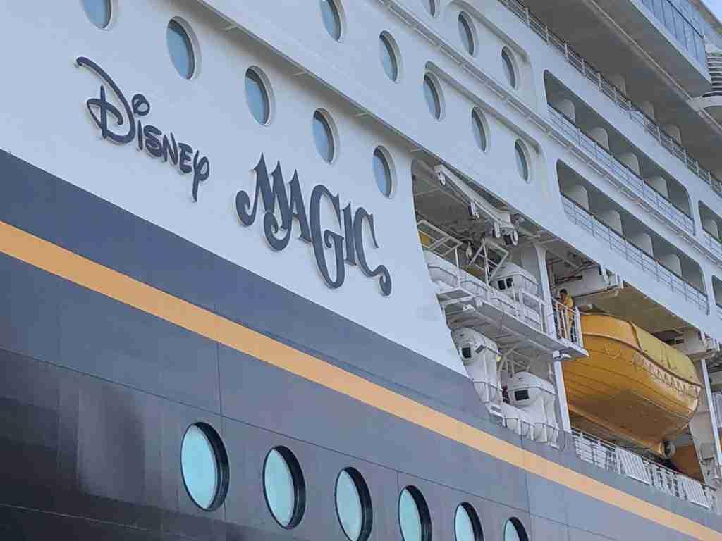 We are on the Disney Magic