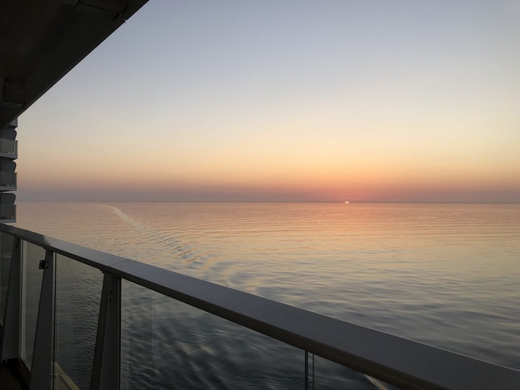 A final sunset on Anthem of the Seas