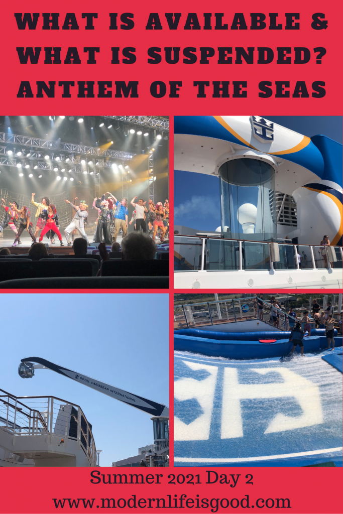 Day 2 on our Anthem of the Seas Staycation cruise around the United Kingdom. Yesterday, we discussed how the cruising experience had been redesigned to keep you safe. During these posts, I will focus on how the cruising experience has altered rather than provide a traditional travel blog. Cruise holidays are not cheap, and the current changes will not be satisfactory for everyone. In today's post, we will discuss what is suspended and what is available on the Anthem of the Seas.