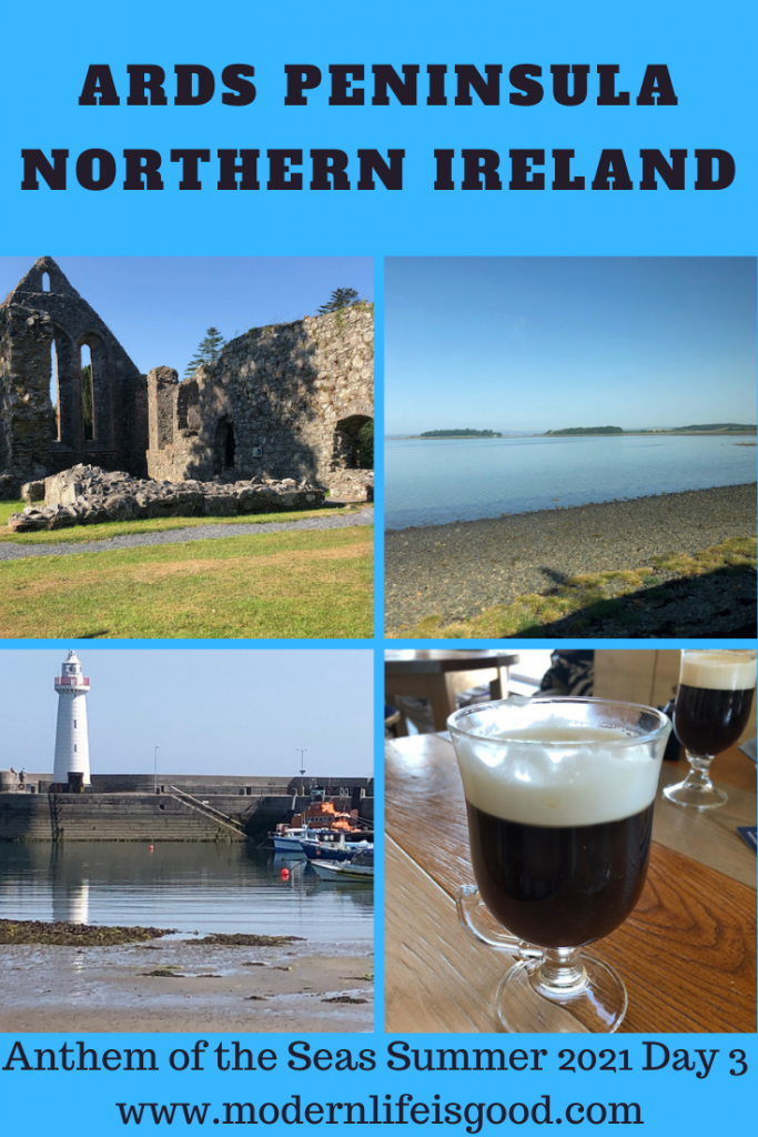 """Day 3 on the Anthem of the Seas, and we have a port of call! I never imagined when we left the Anthem of the Seas in October 2019 that our next cruise port of call would be Belfast. Also, I never imagined that Belfast was a """"tropical paradise"""" a short ferry ride away from our home. Today we explored the beautiful Ards Peninsula."""