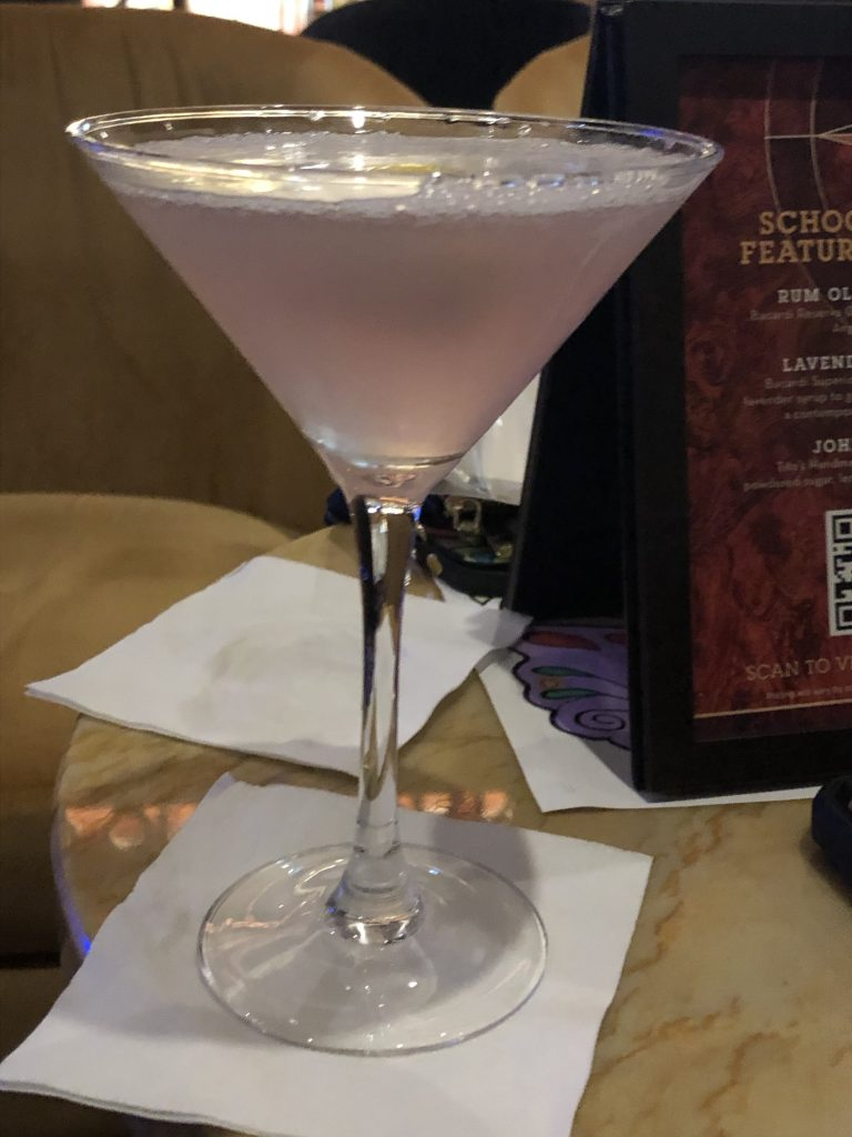 A final drink on Anthem of the Seas