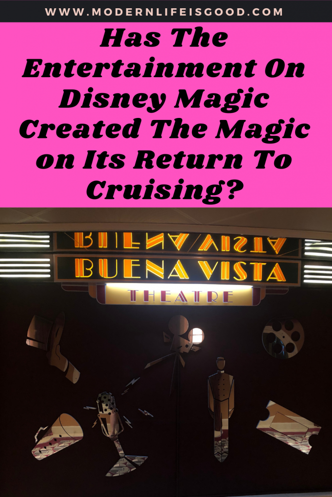 Day 2 on the Disney Magic, and in today's post, we will focus a little bit on the entertainment you will find on the ship. In yesterday's post, we focused on some of the negatives of the ship, but today we will highlight some of the star attractions. The entertainment on the Disney Magic is a bit of a mixed bag, but the star is, without doubt, Disney Dreams.